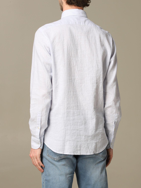 Shirt Brooksfield: Brooksfield shirt in linen blend sky blue 2
