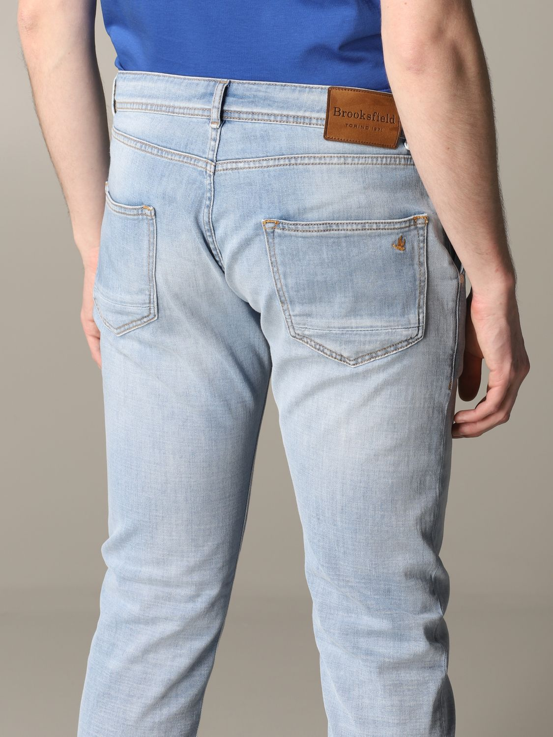 Jeans Brooksfield: Jeans herren Brooksfield stone washed 5