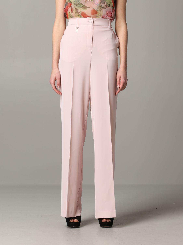 Trousers Blumarine: Trousers women Blumarine blush pink 1