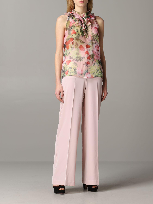 Trousers Blumarine: Trousers women Blumarine blush pink 2