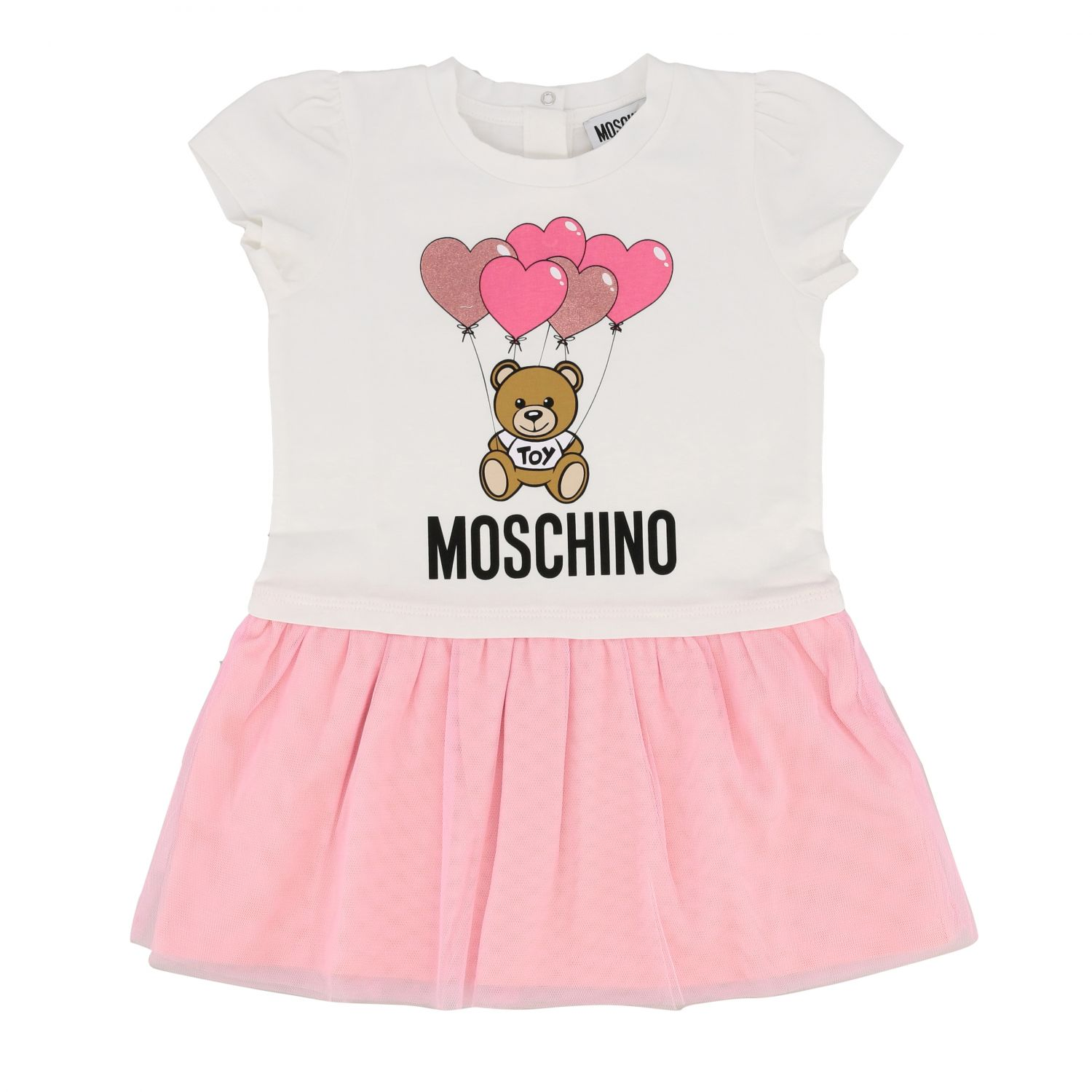 Barboteuse enfant Moschino Baby blanc 1