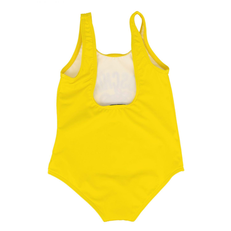 泳装 Moschino Baby: Moschino Baby 泰迪熊印花连体泳装 黄色 2