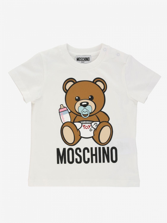 T-shirt kids Moschino Baby white 1