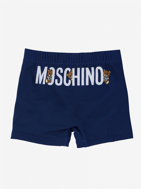 Maillot de bain Moschino Baby: Maillot de bain Moschino Baby avec logo et teddy bleu 2