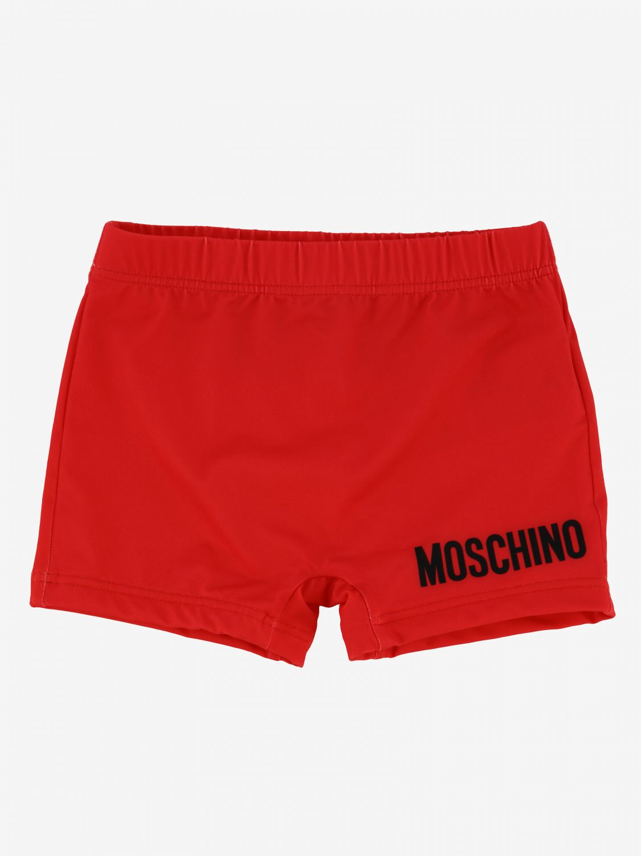 泳装 Moschino Baby: Moschino Baby 泰迪熊logo 泳裤 红色 1