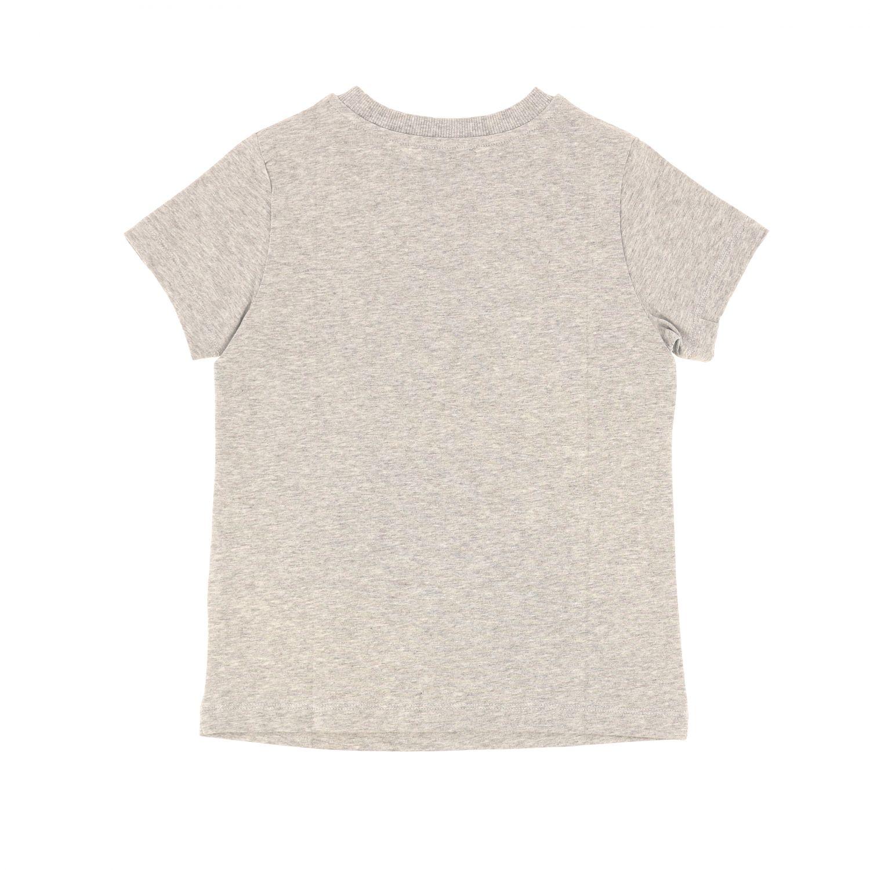T-shirt Moschino Kid a maniche corte con stampa teddy baseball grigio 2