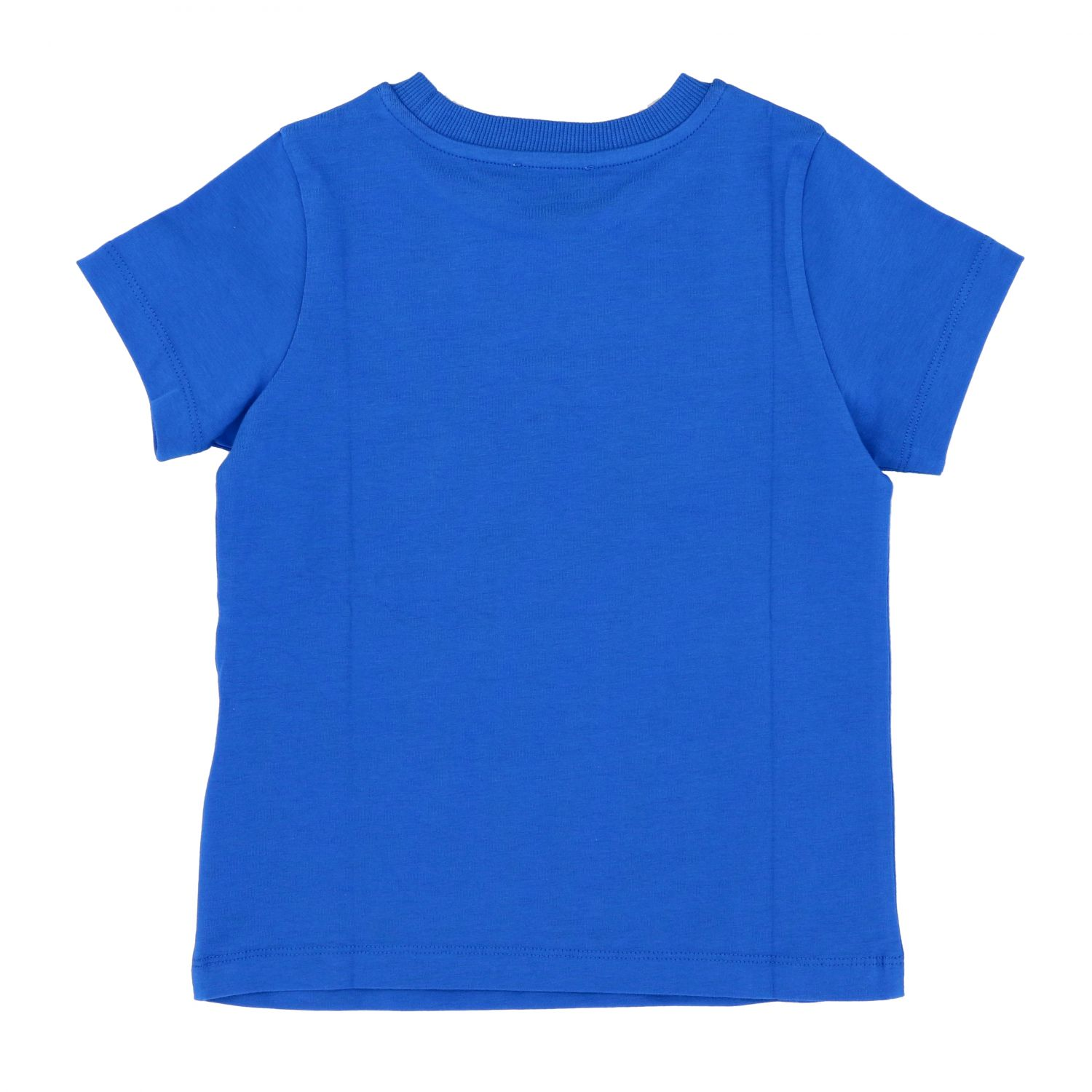 Moschino Kid short-sleeved t-shirt with teddy baseball print royal blue 2