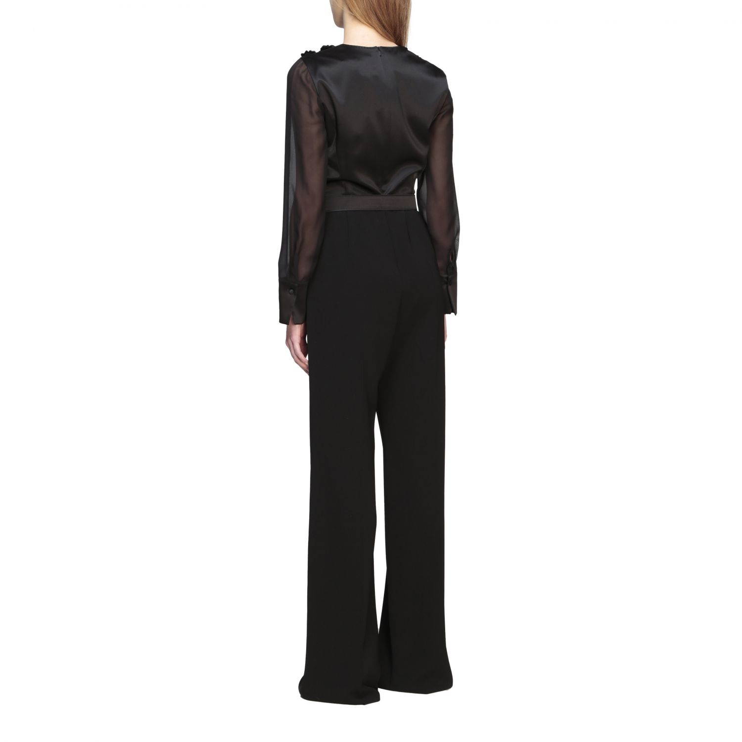 Max Mara Camino suit in silk and cady with applications black 2