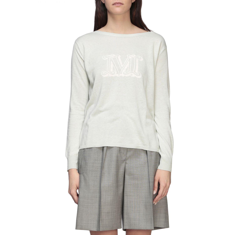 Max Mara Salice Shirt aus Seide und Leinen mit Logo grün 1