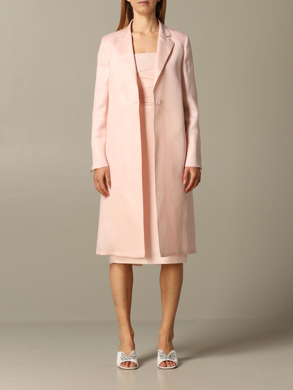 Romania Max Mara silk coat pink 1