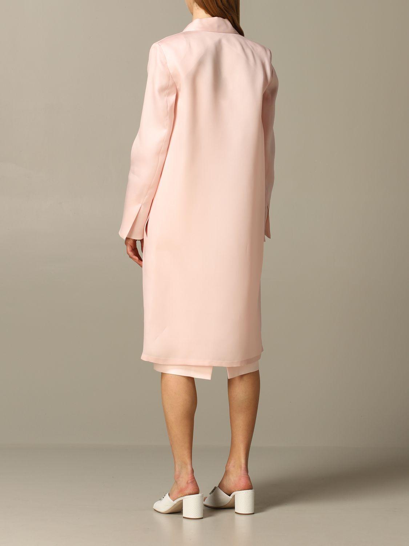 Romania Max Mara silk coat pink 2