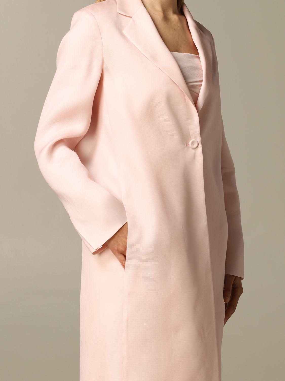 Romania Max Mara silk coat pink 3