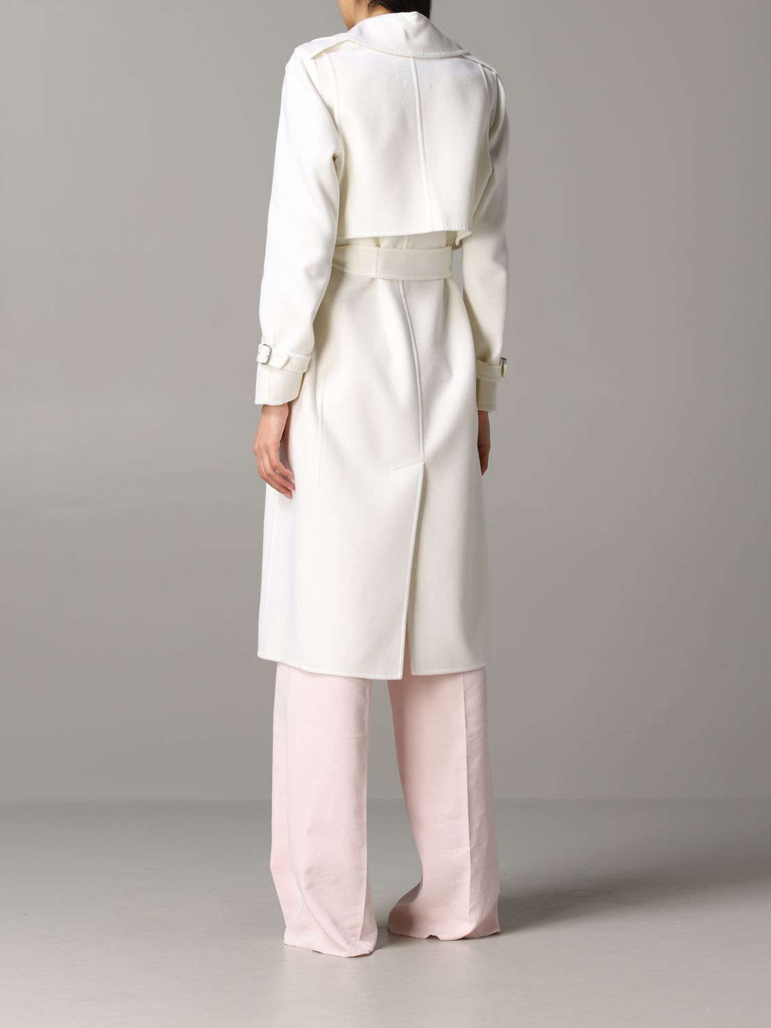 Max Mara Gianna dressing gown coat with removable vest white 3