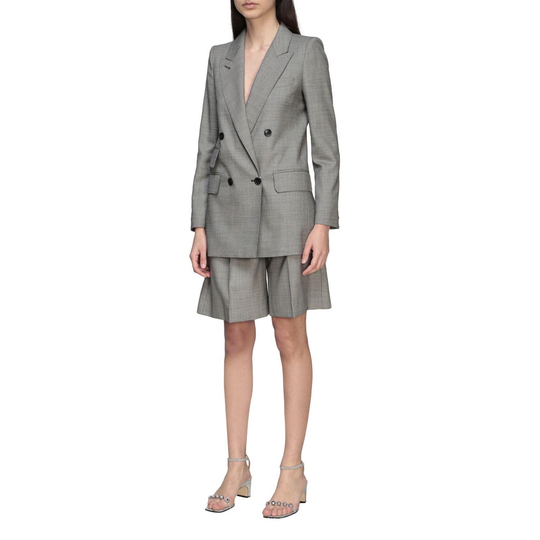 Куртка Max Mara: Блейзер Женское Max Mara серый 4