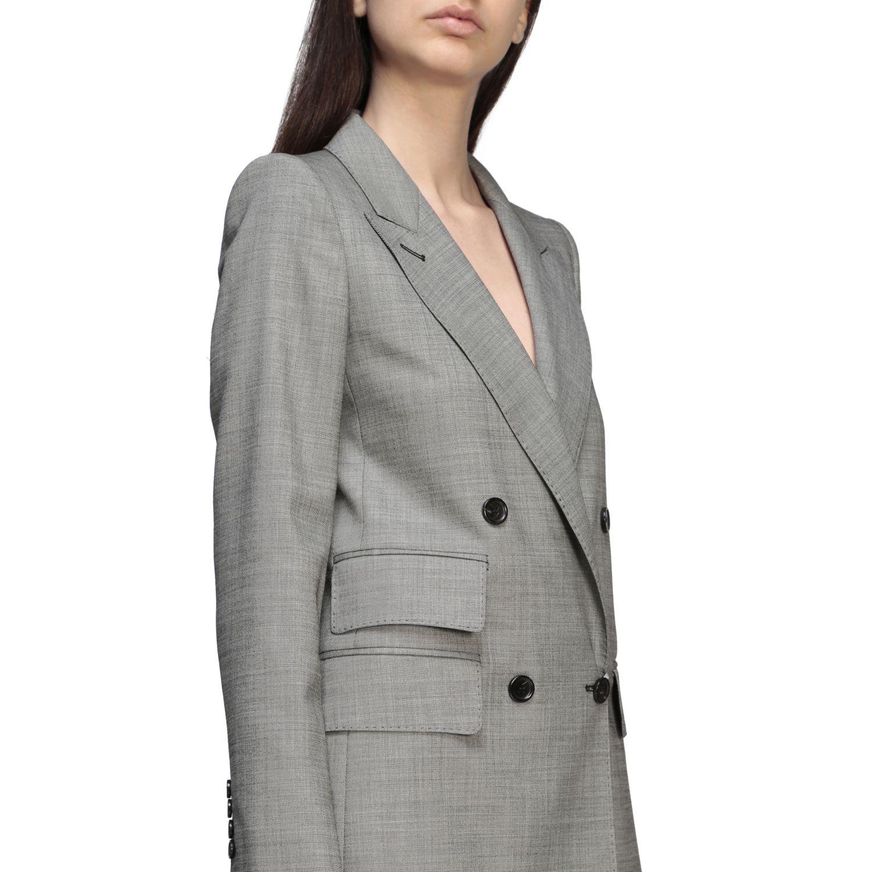 Куртка Max Mara: Блейзер Женское Max Mara серый 5