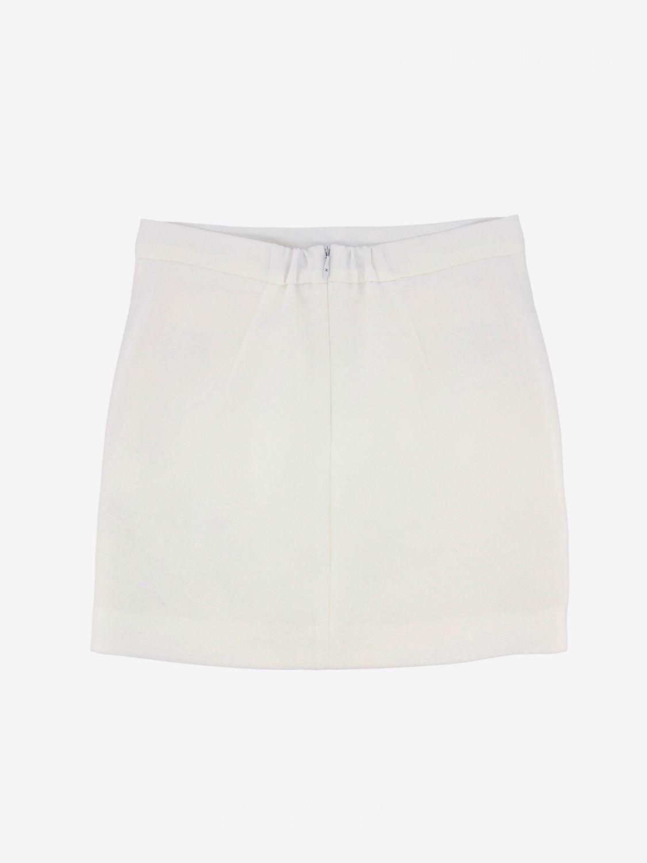 Elisabetta Franchi skirt with metallic logo ivory 2