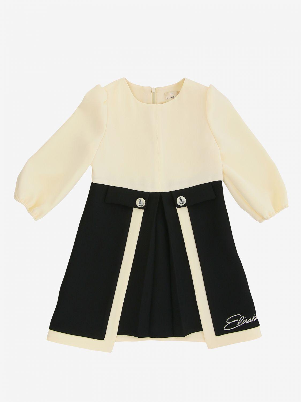 Dress kids Elisabetta Franchi ivory 1
