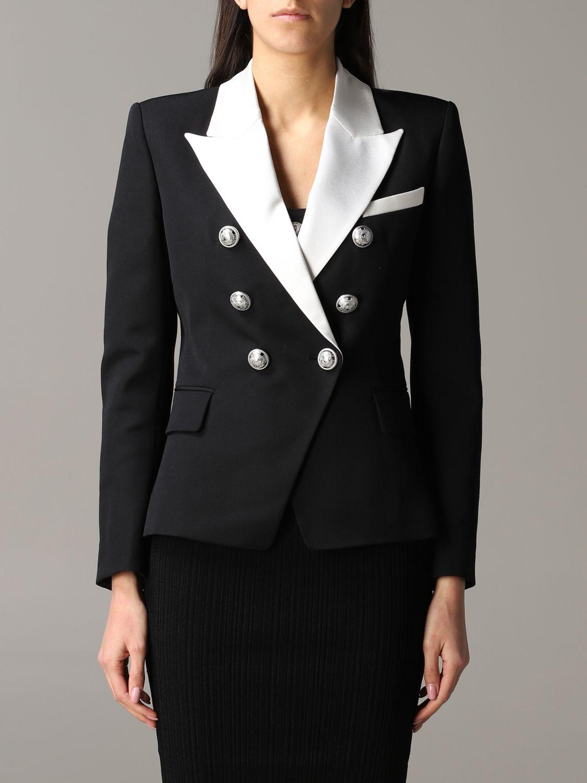 Jacket Balmain: Blazer women Balmain black 1