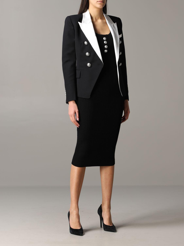 Jacket Balmain: Blazer women Balmain black 2