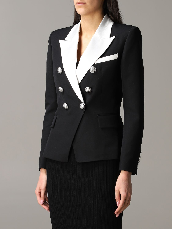 Jacket Balmain: Blazer women Balmain black 4