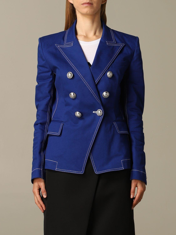 Blazer Balmain: Blazer women Balmain royal blue 1
