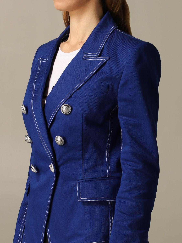 Blazer Balmain: Blazer women Balmain royal blue 4