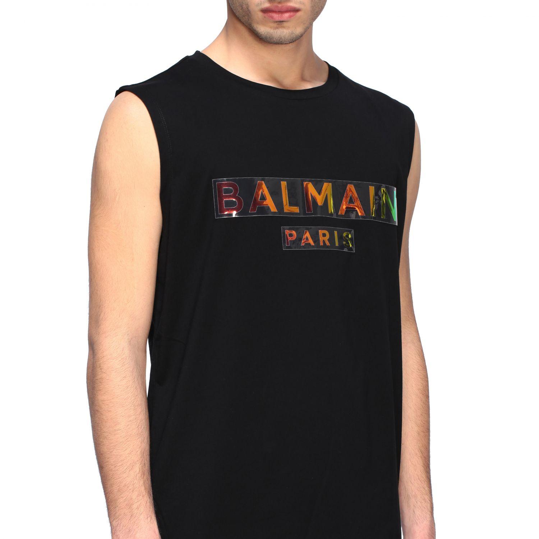 Футболка Balmain: Футболка без рукавов Мужское Balmain черный 5