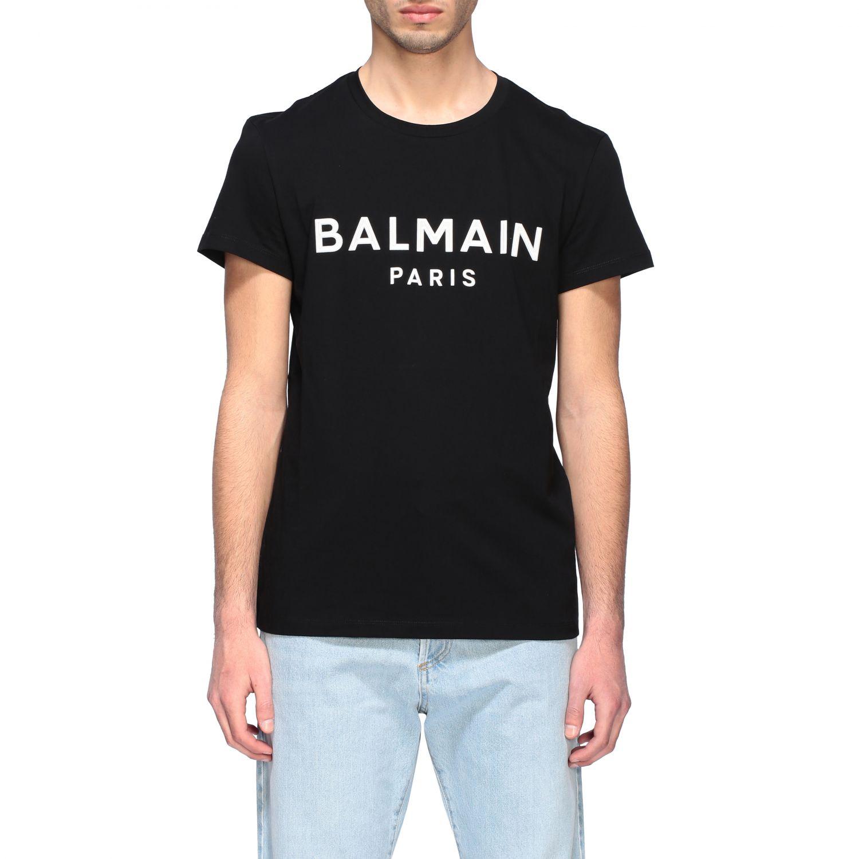 Футболка Balmain: Футболка с логотипом Мужское Balmain черный 2 1