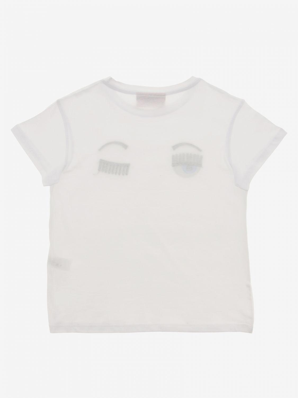 T-shirt Chiara Ferragni: T-shirt Chiara Ferragni con eyes flirting bianco 2