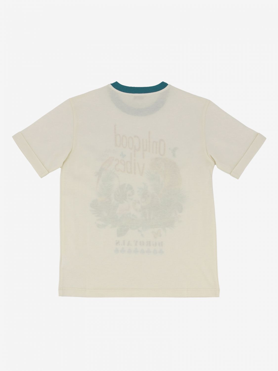 T-shirt Dolce & Gabbana: T-shirt Dolce & Gabbana con stampa only good vibes bianco 2