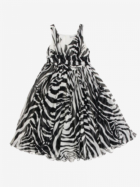 Abito Dolce & Gabbana: Abito Dolce & Gabbana in seta zebrata nero 1