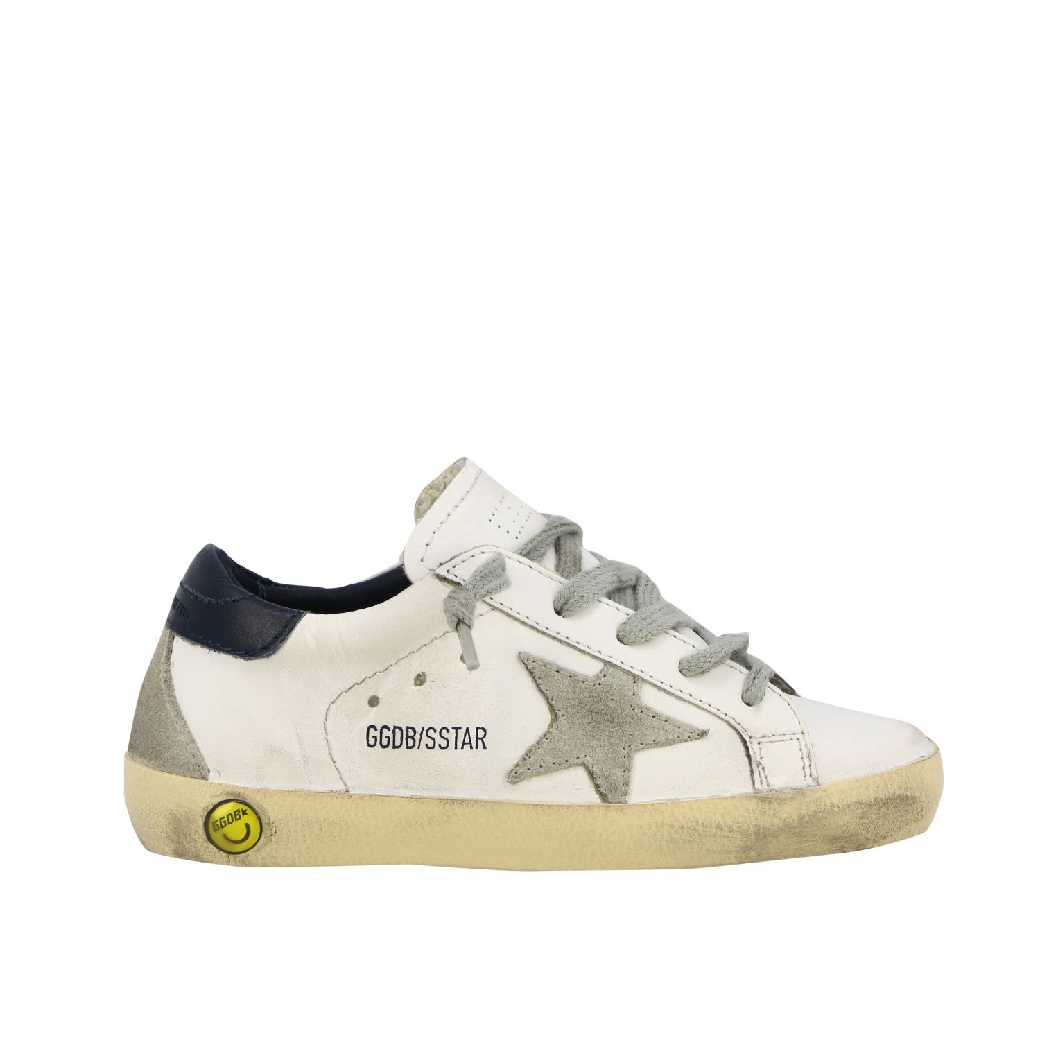 Superstar Golden Goose sneakers in leather and suede with star white 1