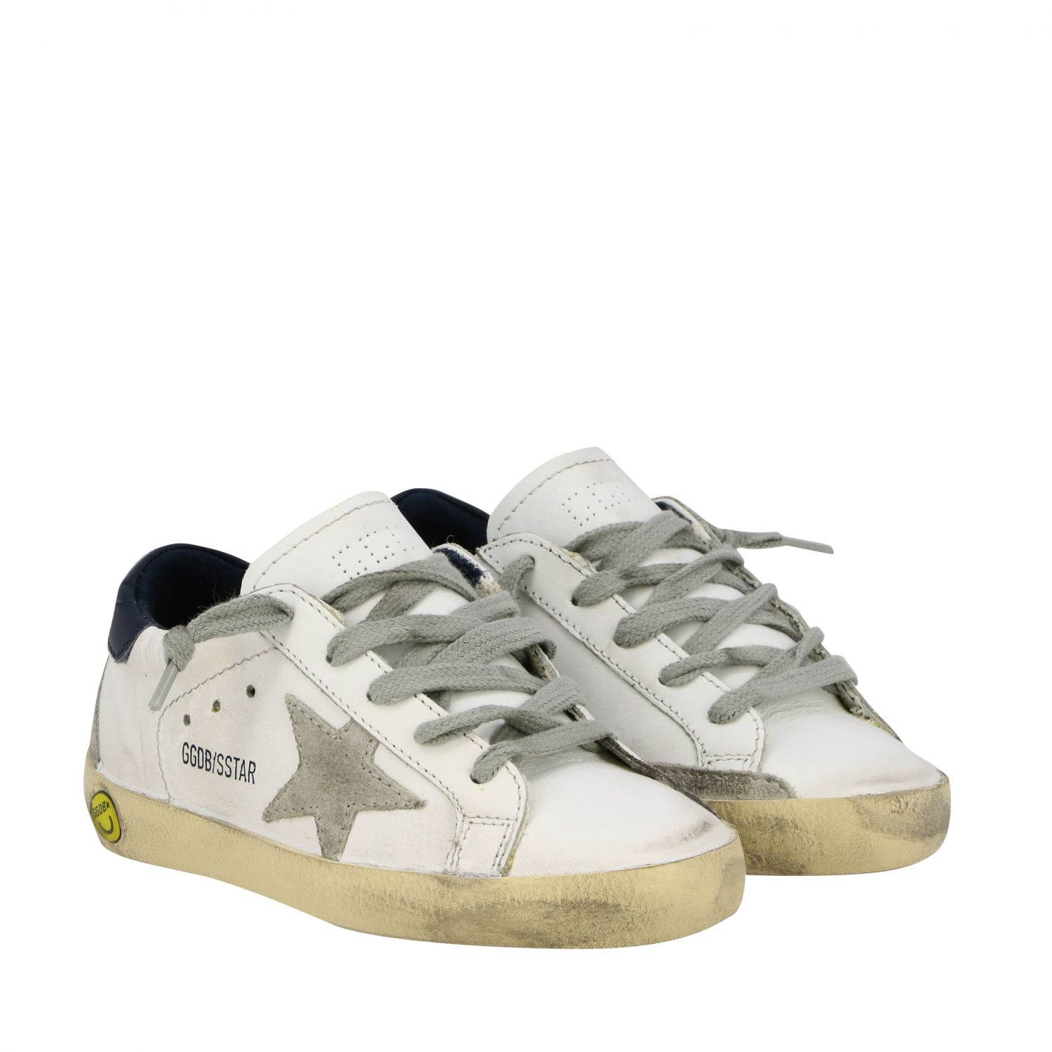 Superstar Golden Goose sneakers in leather and suede with star white 2