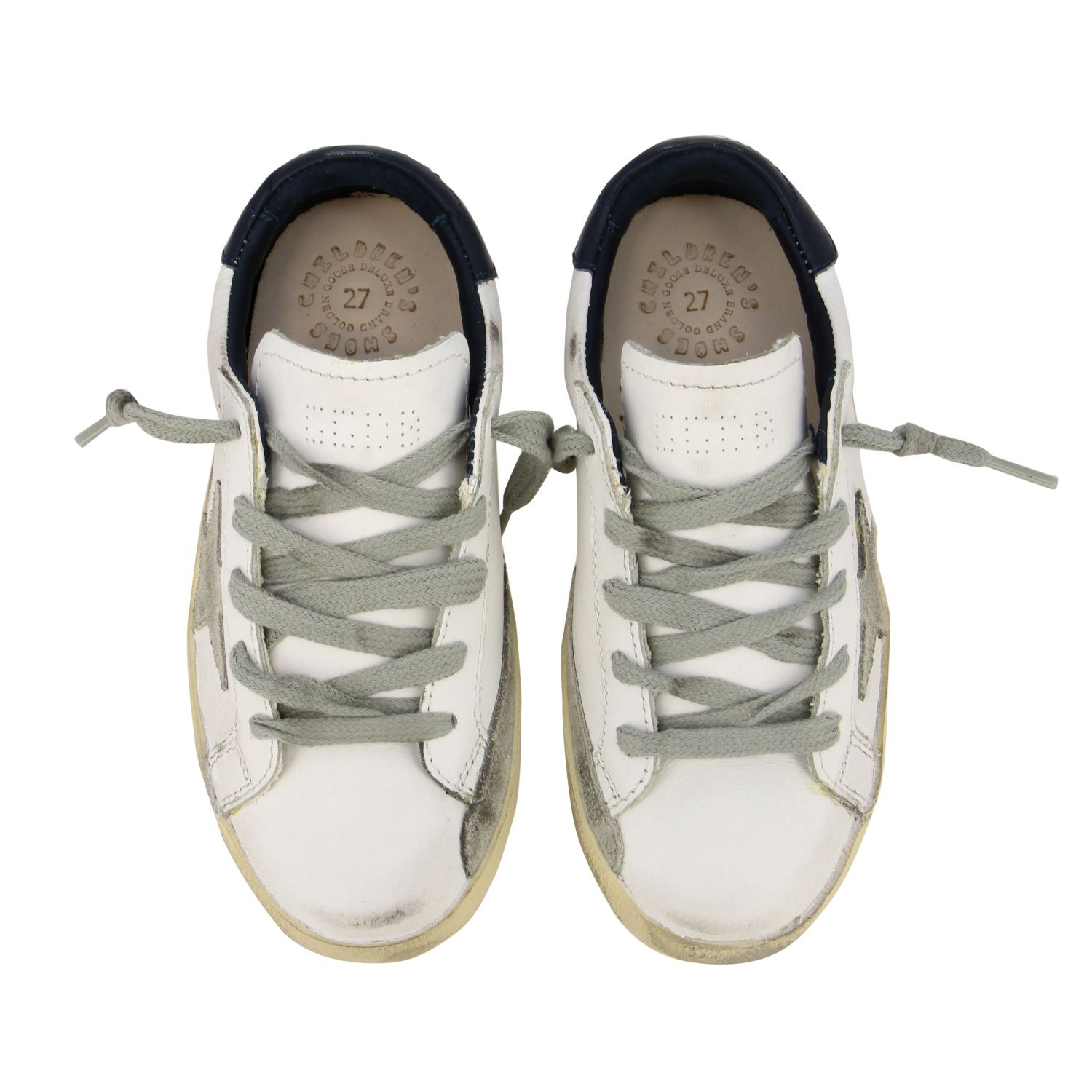 Superstar Golden Goose sneakers in leather and suede with star white 3