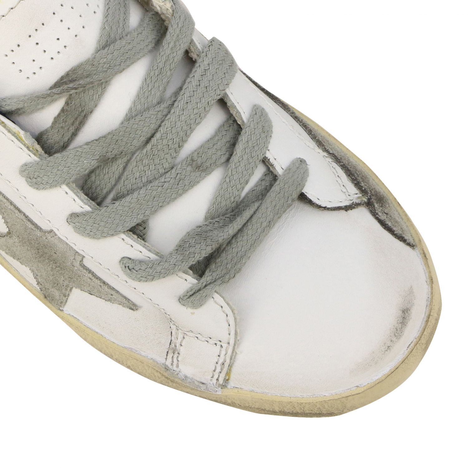 Superstar Golden Goose sneakers in leather and suede with star white 4