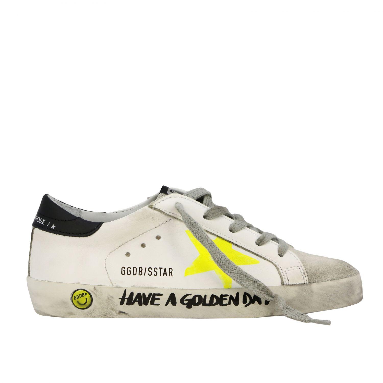 Golden Goose Superstar Sneakers mit Stern weiß 1