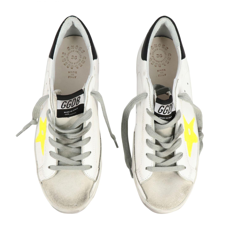 Golden Goose Superstar Sneakers aus Leder und Wildleder mit Stern weiß 3