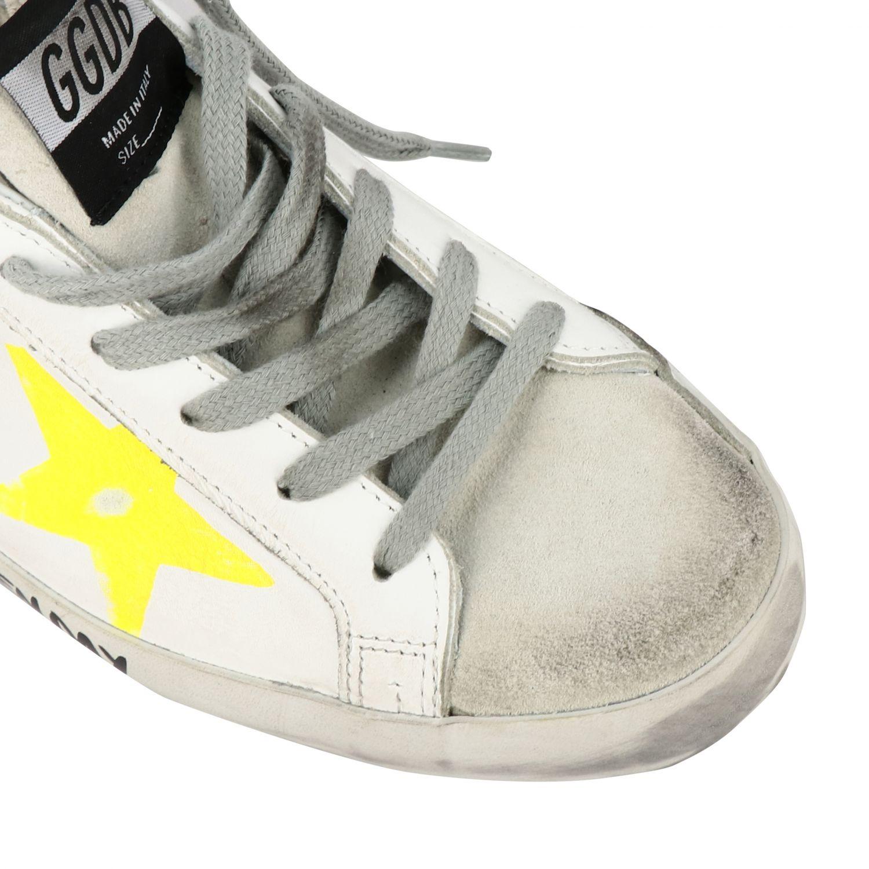 Golden Goose Superstar Sneakers aus Leder und Wildleder mit Stern weiß 4