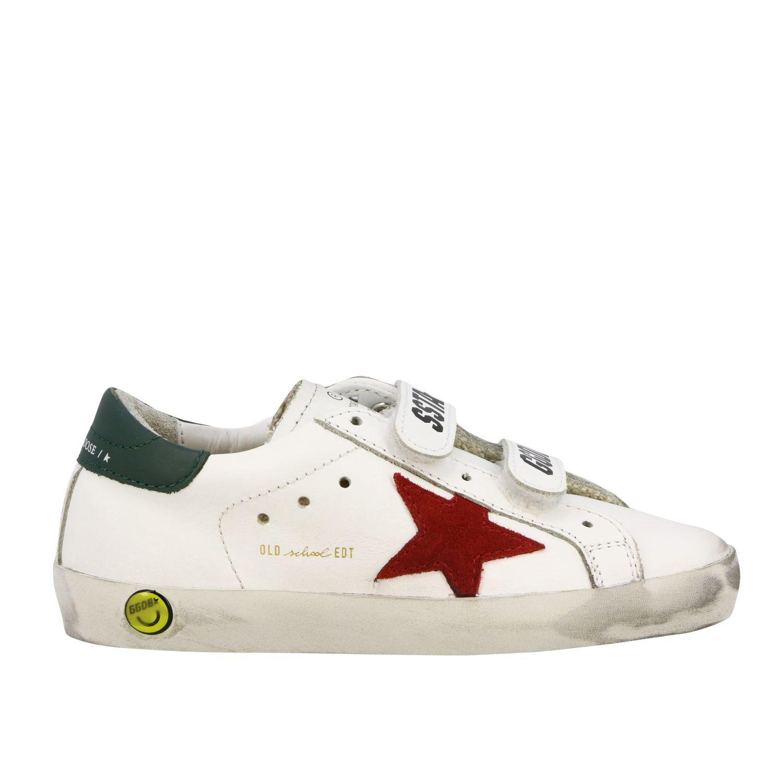 Golden Goose Old School Superstar Sneakers aus Leder mit Stern weiß 1