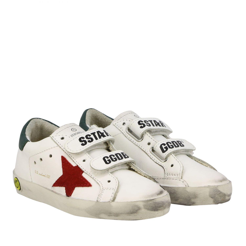 Golden Goose Old School Superstar Sneakers aus Leder mit Stern weiß 2