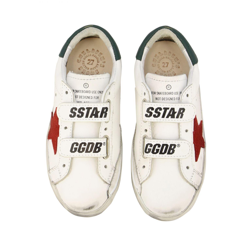 Golden Goose Old School Superstar Sneakers aus Leder mit Stern weiß 3