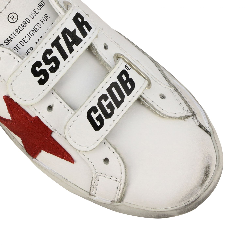 Golden Goose Old School Superstar Sneakers aus Leder mit Stern weiß 4