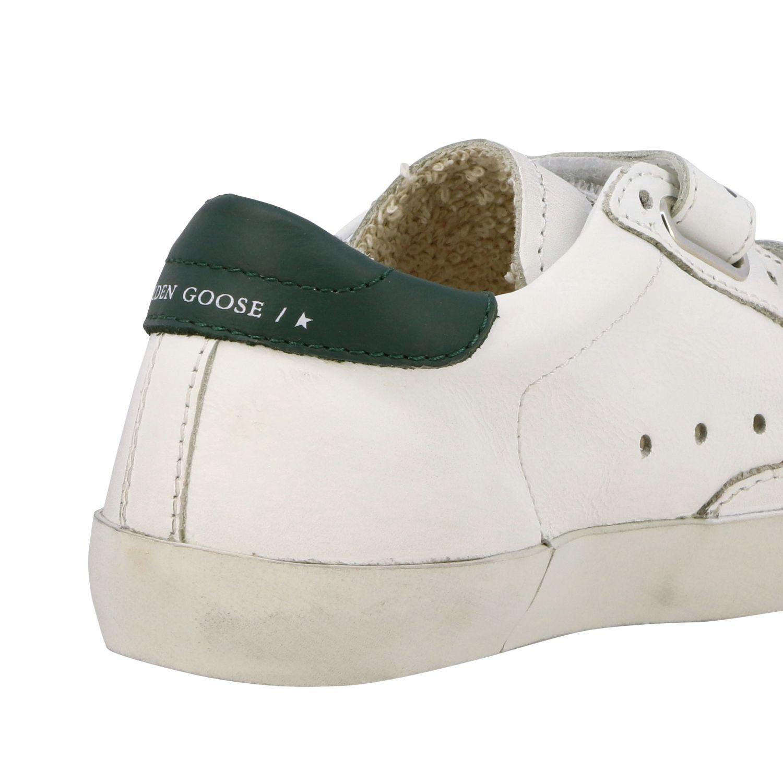 Golden Goose Old School Superstar Sneakers aus Leder mit Stern weiß 5