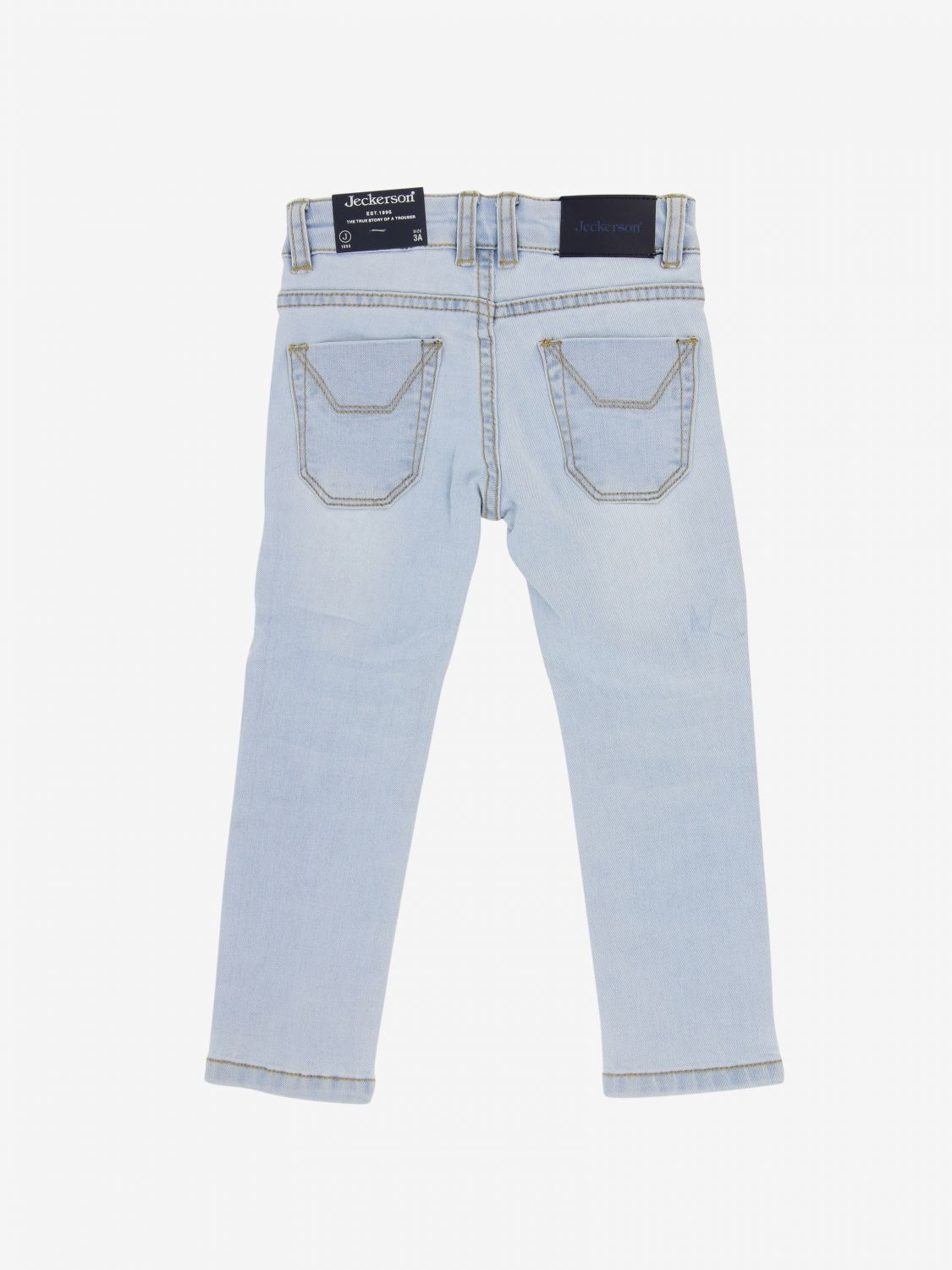 Jeckerson denim jeans with patches stone washed 2