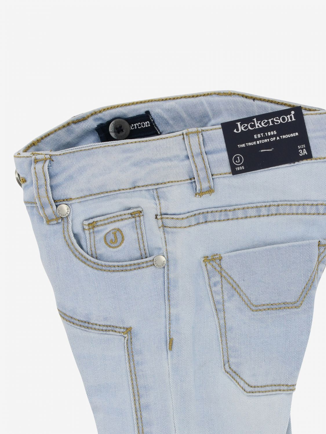 Jeckerson denim jeans with patches stone washed 3