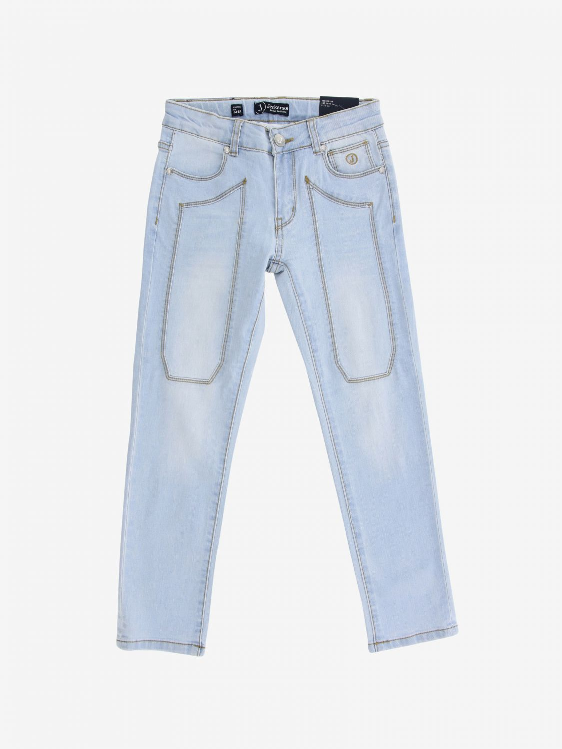 Jeckerson denim jeans with patches stone washed 1