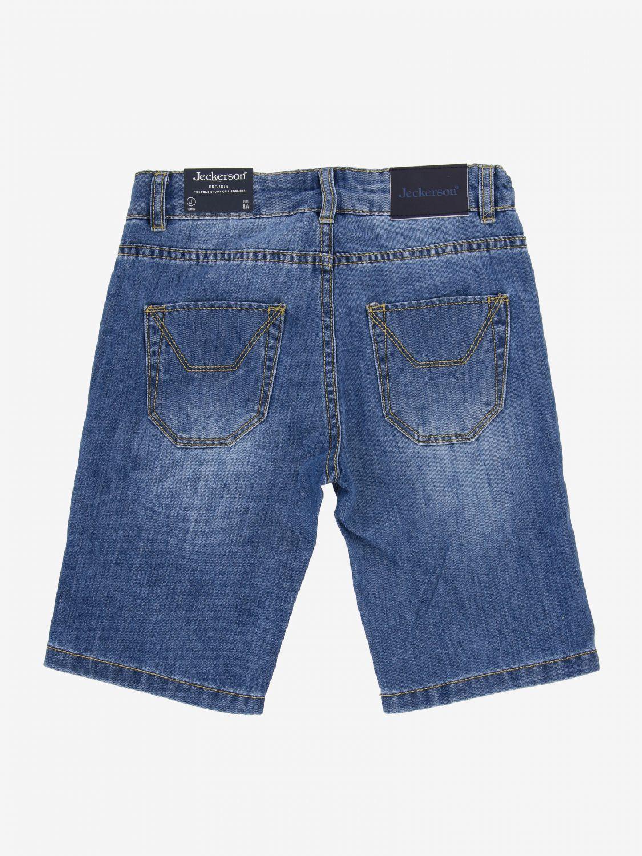 Jeckerson denim shorts with Cuba flag patches denim 2