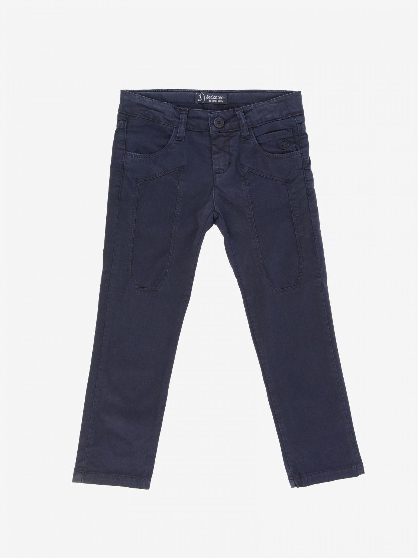 Jeckerson 弹性华达呢裤子 蓝色 1