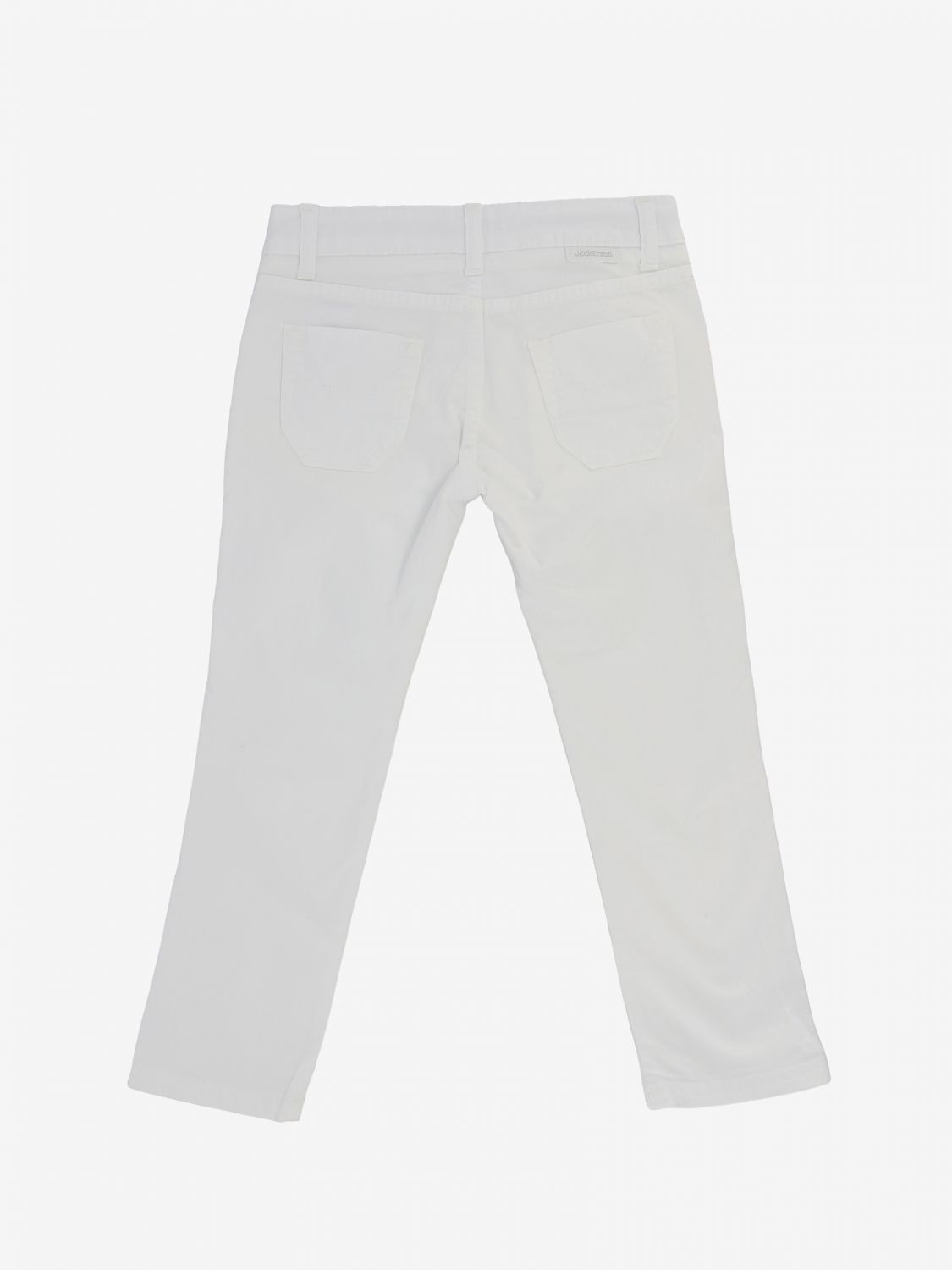 Jeckerson trousers in stretch gabardine white 2