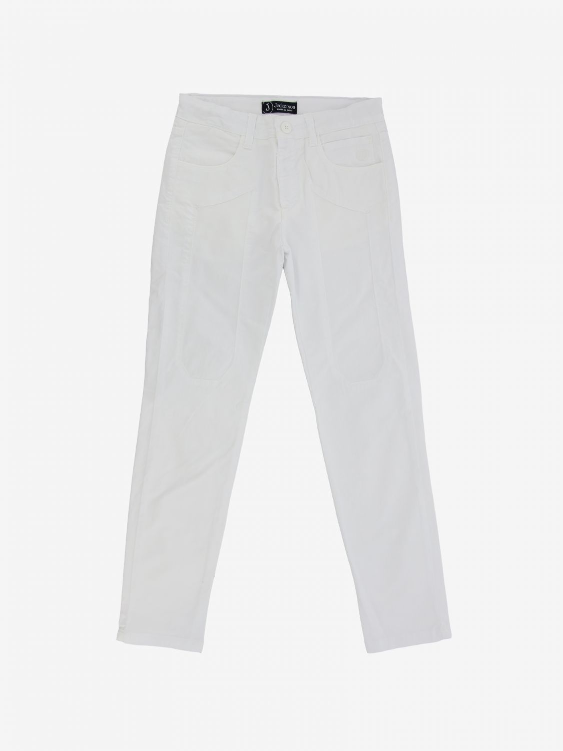 Jeckerson trousers in stretch gabardine white 1